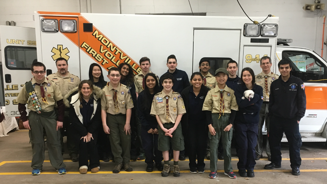MTFAS Cadets and Troop 76 coming together after a job well done.